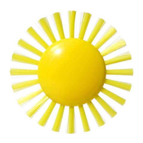 juguete educativo cepillo con forma de sol