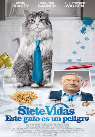 """Poster película """"Siete vidas, este gato es un peligro"""""""