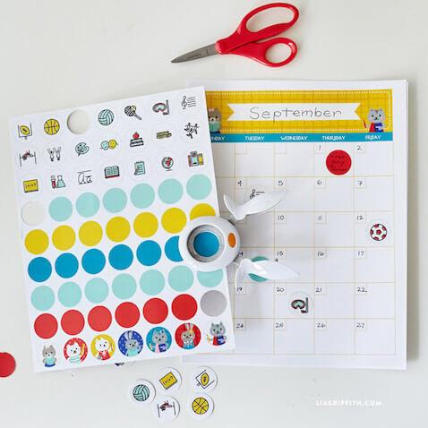 Calendario escolar para imprimir