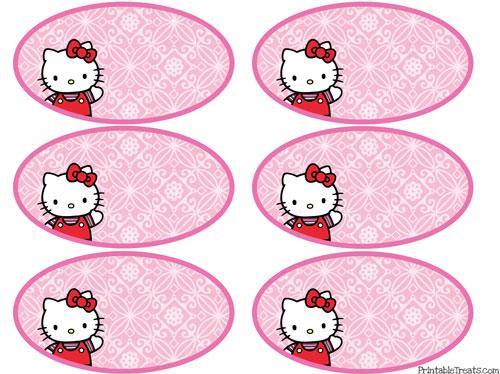 Etiquetas para imprimir de Hello Kitty