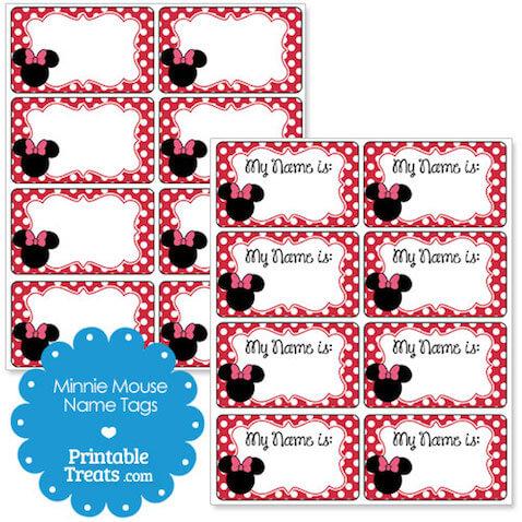 Etiquetas para imprimir gratis de Minnie