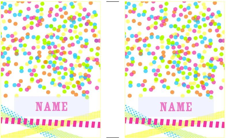 Etiquetas personalizadas para imprimir gratis de lunares