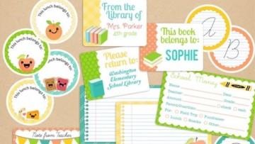 Etiquetas personalizadas para imprimir con plantilla editable para tus niñ@s