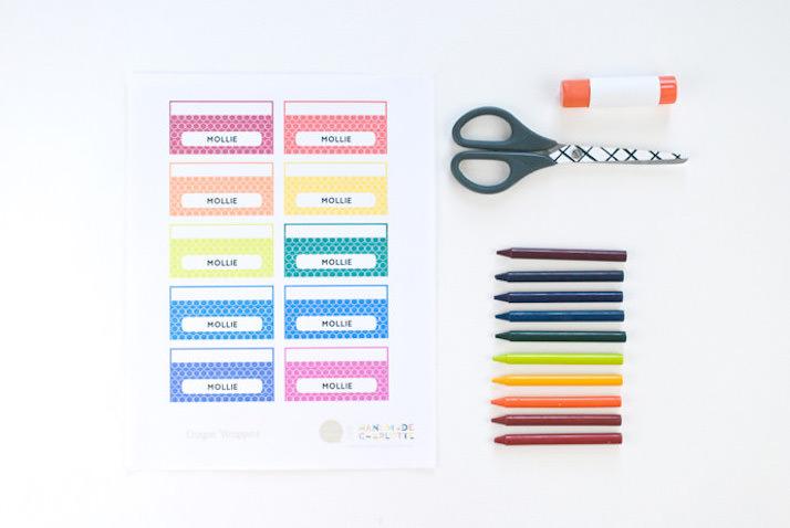 Materiales para hacer etiquetas DIY