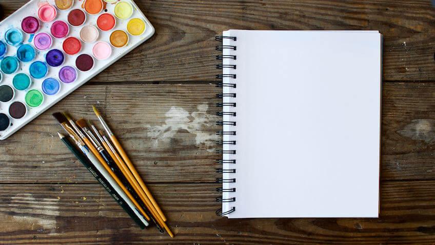 material escolar temperas pinceles cuaderno