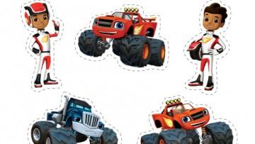 Haz pegatinas de Blaze y los Monster Machines para la Vuelta al Cole