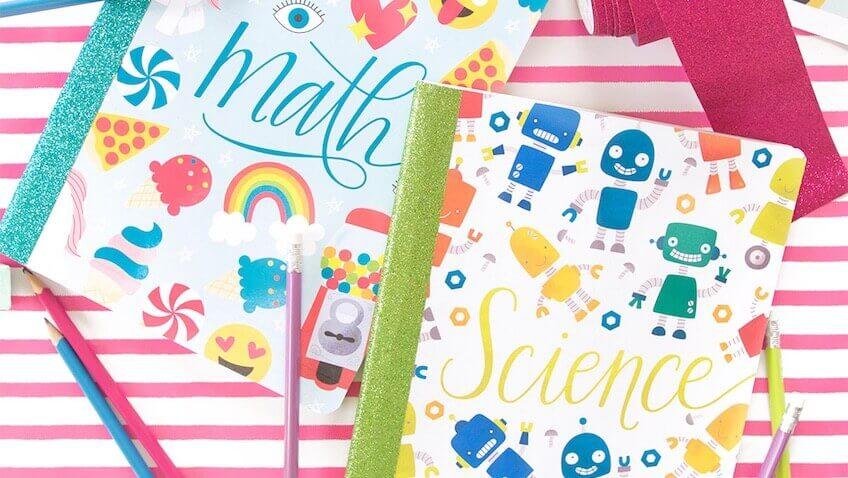 decorar cuadernos escolares
