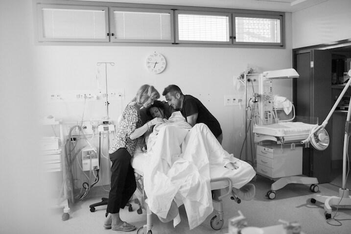 fotos tras el parto