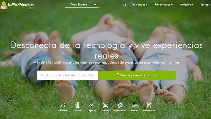 Sapos y princesa nueva web renovada