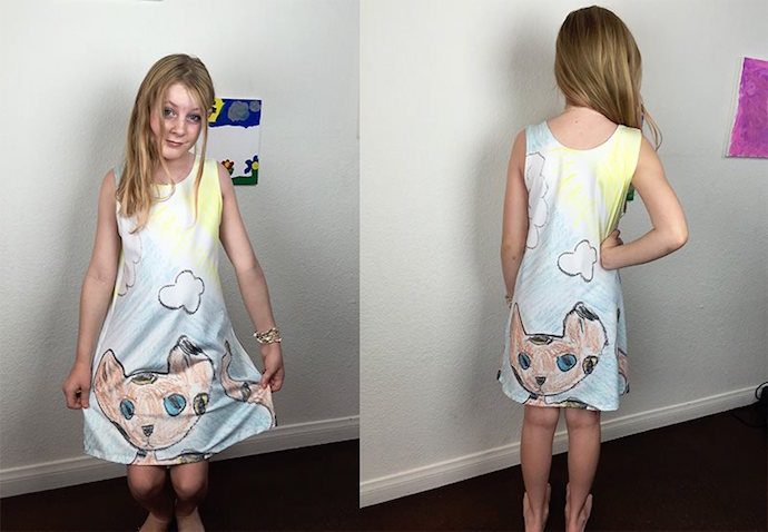 Vestidos de dibujos infantiles impresos