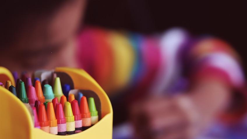 Vuelta al cole lápices de cera