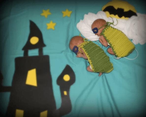 Bebés prematuros disfrazados para celebrar Halloween