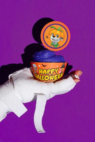 Cupcakes para Halloween de la Patrulla Canina