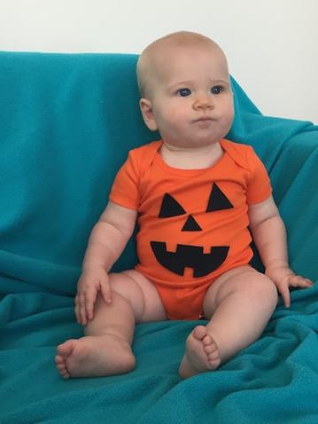 disfraz de calabaza bebe