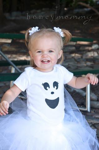 Disfraz de fantasma para bebé casero