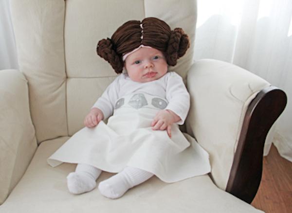 Disfraz de Princesa Leia para bebés casero