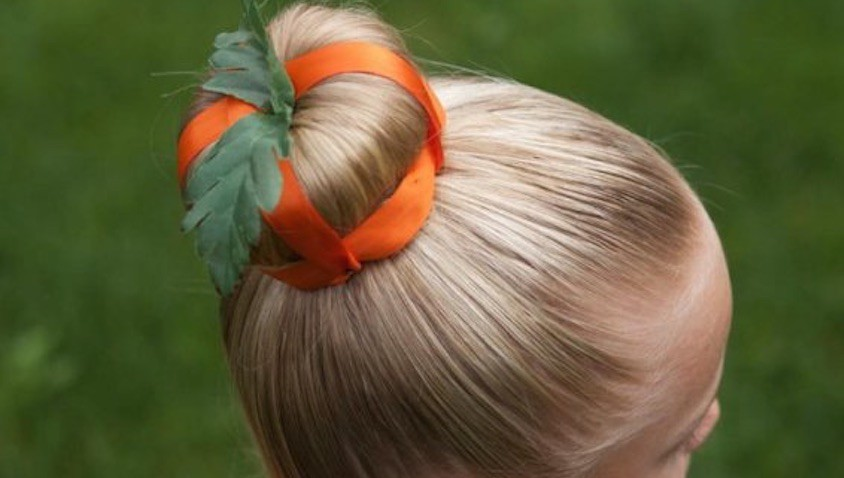 disfraz calabaza casero halloween peinado niña