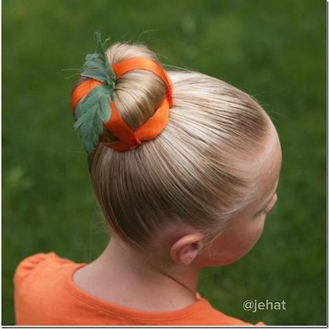 Peinado para disfraz calabaza casero Halloween