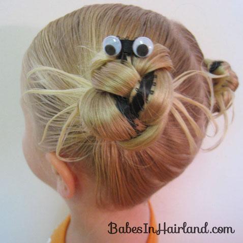 Peinado de arañas para Halloween