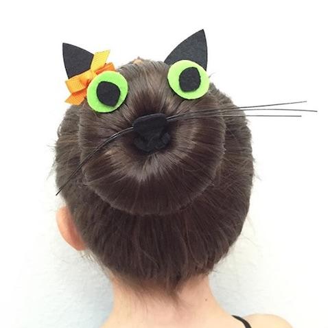 Peinado de gato para Halloween