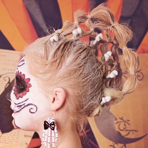 Peinado de Halloween Día de Muertos