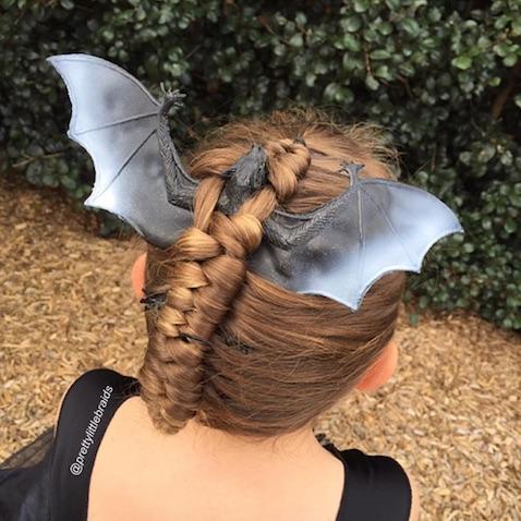 Peinado murciélago para Halloween