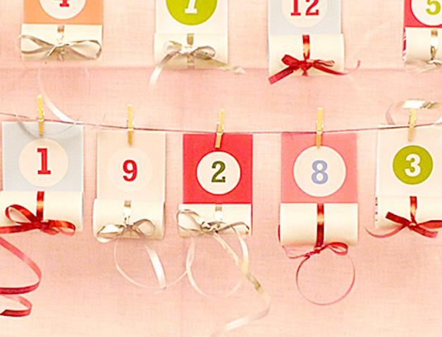 Calendario de adviento casero con plantilla para imprimir