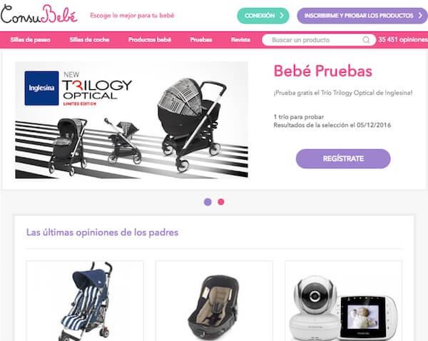 En Consubebé.es puedes probar productos infantiles gratis