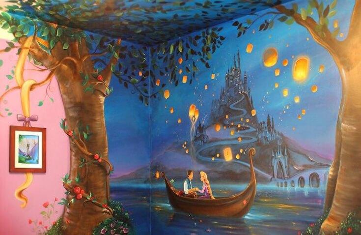 Decoración de Rapunzel para habitación infantil de Jennifer Treece