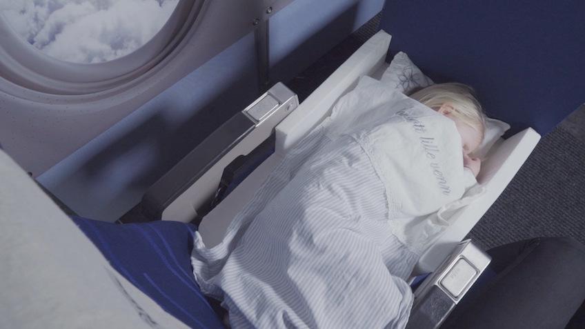 Maleta para niños con cama para el avión Bedbox de JetKids