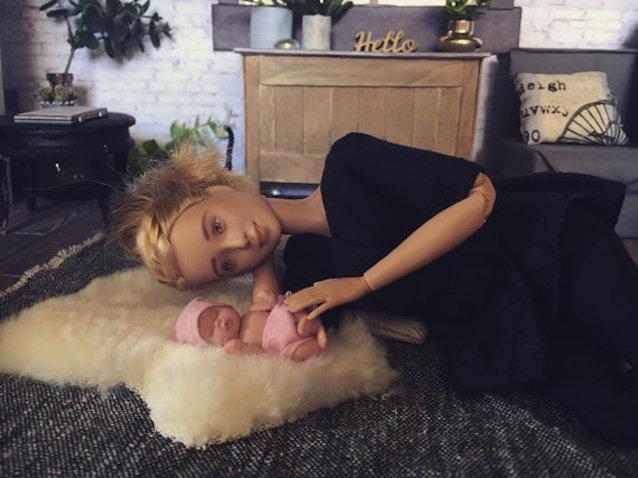 Muñeca lactancia materna