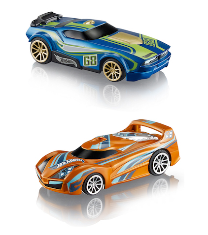 Coches con inteligencia artificial del circuito AI de Hot Wheels