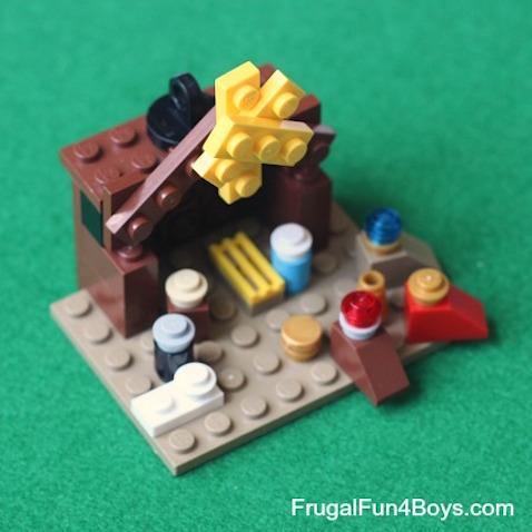 Belén hecho con piezas de Lego