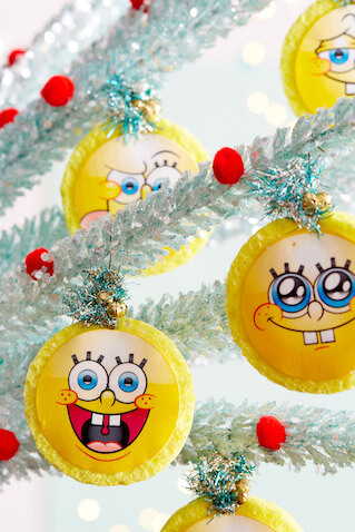 Adornos de bob esponja para decorar tu rbol de navidad - Adornos de navidad con cartulina ...