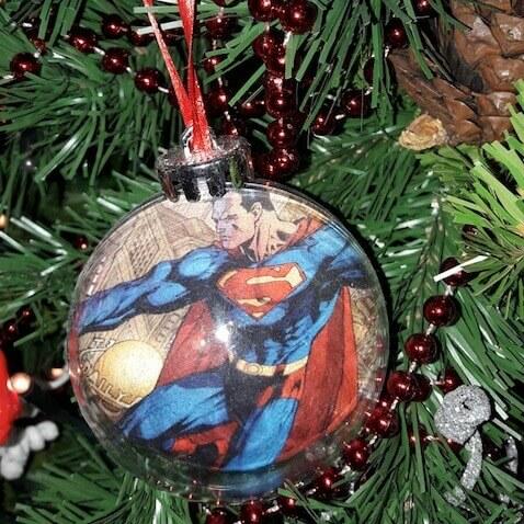 Bola de Navidad casera de Superman