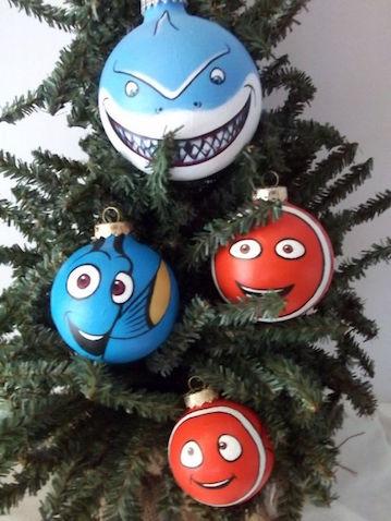 Bolas de Navidad infantiles de Finding Dory