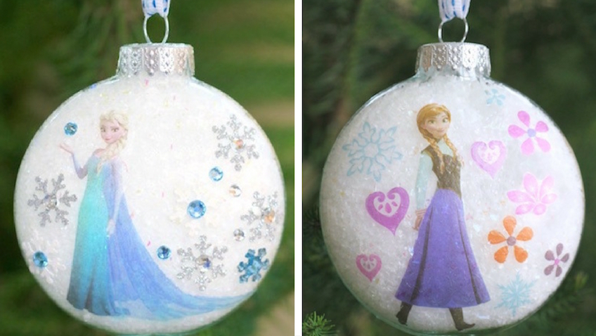 bolas de navidad infantiles con los personajes preferidos de tus hijs