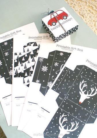 Cajas de regalo de Navidad para imprimir gratis