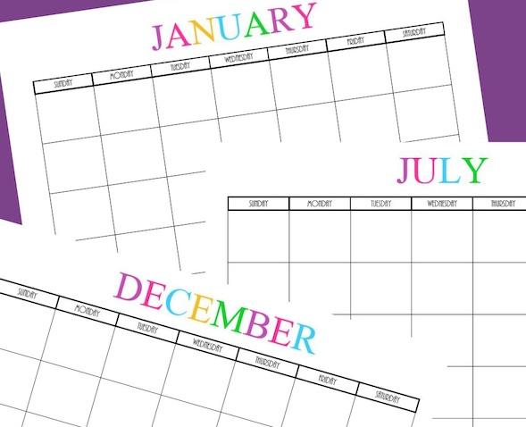 Calendario para imprimir 2017 de What Mommy Does