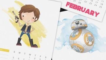 Calendario de Star Wars para el 2017