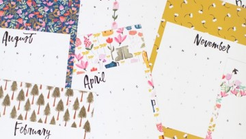 10 calendarios del 2017 para imprimir gratis
