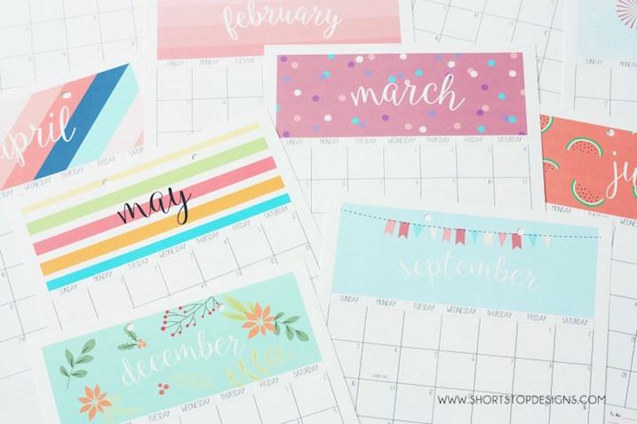 Calendarios del 2017 para imprimir gratis