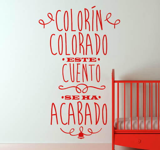 Vinilo infantil personalizado Colorín Colarado...