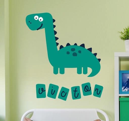 Vinilos infantiles personalizados de Dinosaurio