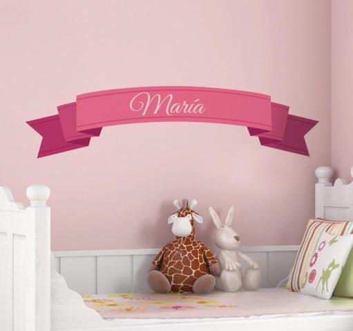 Vinilo de pared con el nombre María