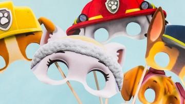 Imprime máscaras para hacer disfraces caseros de la Patrulla Canina