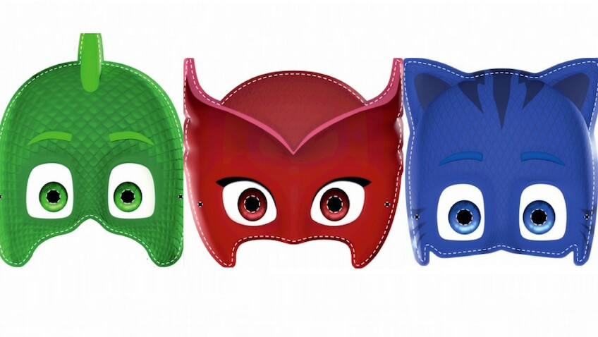 Máscaras de Disney Junior para disfraces caseros de PJ Mask