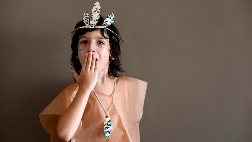 Disfraz casero de indio para niñ@s