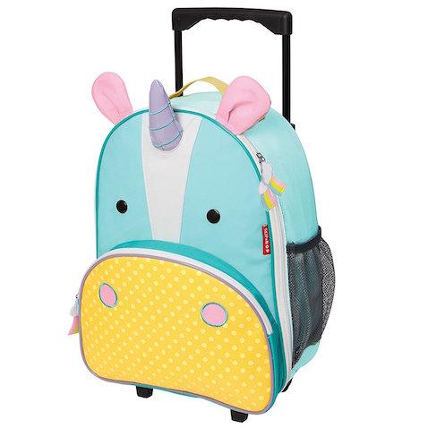 Mochila de unicornio con ruedas para niños