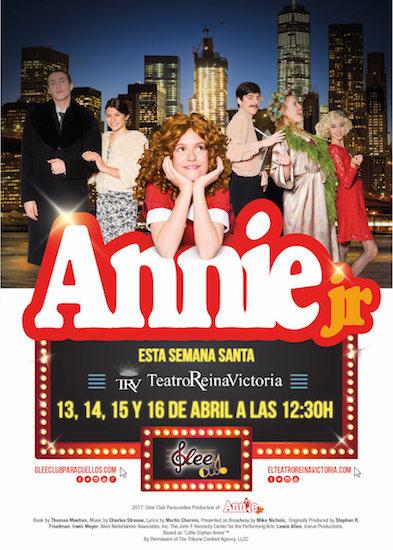 Cartel Annie Jr el Musical Teatro Reina Victoria